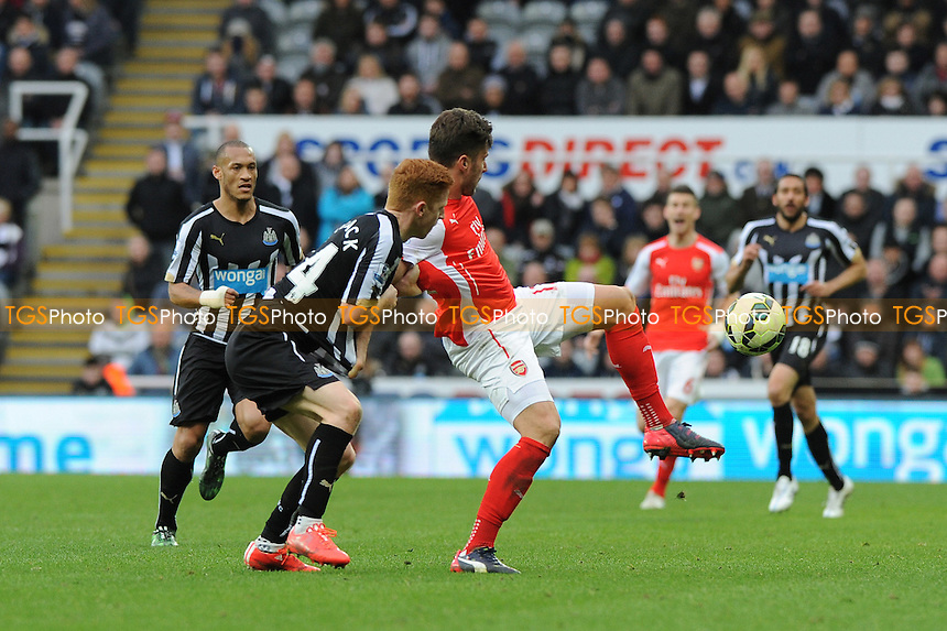 Olivier Giroud of Arsenal battles with Olivier Giroud of Arsenal - Newcastle United vs Arsenal - Barclays Premier League Football at St James Park, Newcastle upon Tyne - 21/03/15 - MANDATORY CREDIT: Steven White/TGSPHOTO - Self billing applies where appropriate - contact@tgsphoto.co.uk - NO UNPAID USE