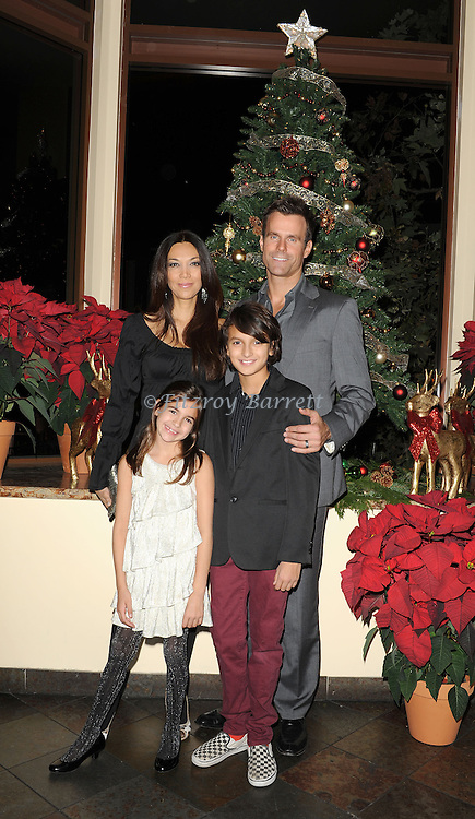 Cameron Mathison and family at 'The Christmas Ornament Premiere' at La Piazza Restaurant at the Grove in Los Angeles, Ca. November 13, 2013