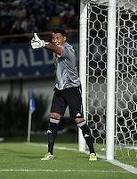 Hugo Soto, portero del Envigado F.C. Hugo Soto, goalkeeper of Envigado F.C. (Photo: VizzorImage / Luis Ramírez / Staff)...
