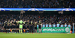 Both teams hold a tribute to Chapecoense, the team who lost 19 of their playing squad in the Colombia plane crash during the Champions League Group C match at the Etihad Stadium, Manchester. Picture date: December 6th, 2016. Pic Simon Bellis/Sportimage