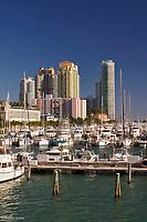 Marina and highrise condominiums<br /> Miami Beach, Florida