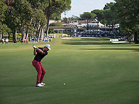 Andrea Pavan (ITA) in action on the 9th hole during the third round of the 76 Open D'Italia, Olgiata Golf Club, Rome, Rome, Italy. 12/10/19.<br /> Picture Stefano Di Maria / Golffile.ie<br /> <br /> All photo usage must carry mandatory copyright credit (© Golffile | Stefano Di Maria)