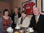 Eithneb Donegan, Geraldine Lenihan, Maria Maguire and Michael Power pictured at the Mattock Rangers Annual awards night held in their clubrooms Collon.  Photo: Colin Bell/pressphotos.ie