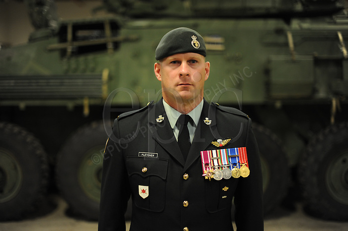 insa-valour-Fletcher..LCol. William Fletcher, recipient of the Star of Military Valour at the Edmonton Garrison, in Edmonton, on Monday, July 11, 2011.  The Star of Military Valour  is the highest military honor awarded during the Afghanistan conflict.  ..John Ulan/Epic Photography