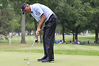 Matt Kuchar (USA) takes his putt on the 2nd green during Sunday's Final Round of the WGC Bridgestone Invitational 2017 held at Firestone Country Club, Akron, USA. 6th August 2017.<br /> Picture: Eoin Clarke | Golffile<br /> <br /> <br /> All photos usage must carry mandatory copyright credit (&copy; Golffile | Eoin Clarke)