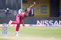 Shannon Gabriel of the West Indies in action during South Africa vs West Indies, ICC World Cup Warm-Up Match Cricket at the Bristol County Ground on 26th May 2019
