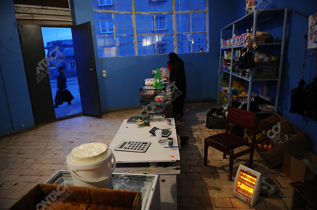 An electric heater warmed a shop in Jewish quarter of Tskinval, the South Ossetian capital, which is currently without gas which previously was transited via Georgia. February 12, 2009