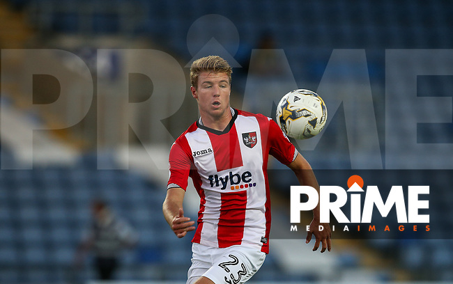 Connor Riley-Lowe of Exeter City during the The Checkatrade Trophy match between Oxford United and Exeter City at the Kassam Stadium, Oxford, England on 30 August 2016. Photo by Andy Rowland / PRiME Media Images.