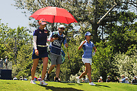 Chella Choi (KOR) and Danielle Kang (USA) depart the first tee during Sunday's final round of the 2017 KPMG Women's PGA Championship, at Olympia Fields Country Club, Olympia Fields, Illinois. 7/2/2017.<br /> Picture: Golffile | Ken Murray<br /> <br /> <br /> All photo usage must carry mandatory copyright credit (&copy; Golffile | Ken Murray)