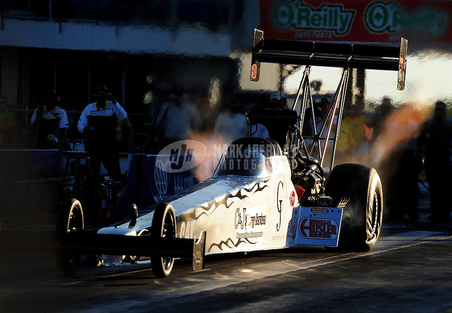 Sept. 23, 2011; Ennis, TX, USA: NHRA top fuel dragster driver Bob Vandergriff Jr during qualifying for the Fall Nationals at the Texas Motorplex. Mandatory Credit: Mark J. Rebilas-