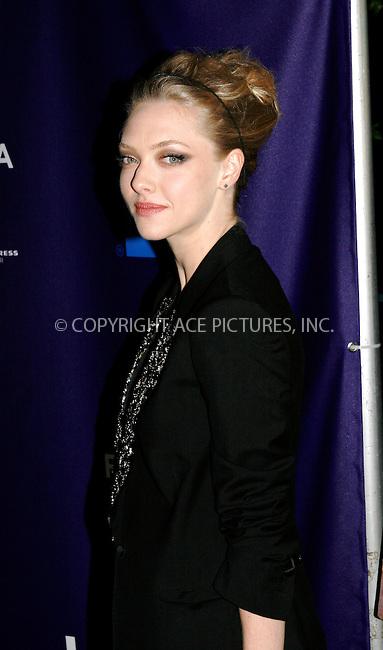 WWW.ACEPIXS.COM . . . . .  ....April 25 2010, New York City....Actress Amanda Seyfried arriving at the 'Letters to Juliet' premiere during the 9th Annual Tribeca Film Festival at the La Bottega on April 25, 2010 in New York City. ....Please byline: NANCY RIVERA- ACEPIXS.COM.... *** ***..Ace Pictures, Inc:  ..Tel: 646 769 0430..e-mail: info@acepixs.com..web: http://www.acepixs.com