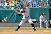 Rob Segedin (26) of the Trenton Thunder bats during a game against the New Britain Rock Cats at New Britain Stadium on May 7, 2014 in New Britain, Connecticut.  Trenton defeated New Britain 6-4.  (Gregory Vasil/Four Seam Images)