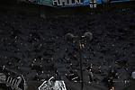 10.03.2018, BayArena, Leverkusen , GER, 1.FBL., Bayer 04 Leverkusen vs. Borussia Moenchengladbach<br /> im Bild / picture shows: <br /> Choregarfie der Gladbacher Kurve <br /> <br /> <br /> Foto &copy; nordphoto / Meuter