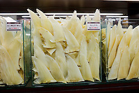 Sharks fins on sale in shop in Wing Lok Street, Sheung Wan, Hong Kong, China