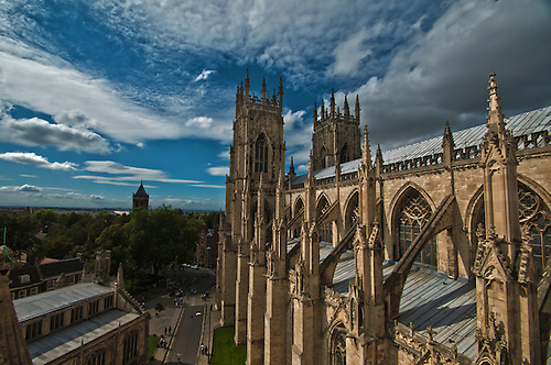 Shot from the tower at York Minster on a summer day.