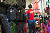 Sports Direct store, London.  90% of staff at the sportswear chain are employed on zero hours contracts.