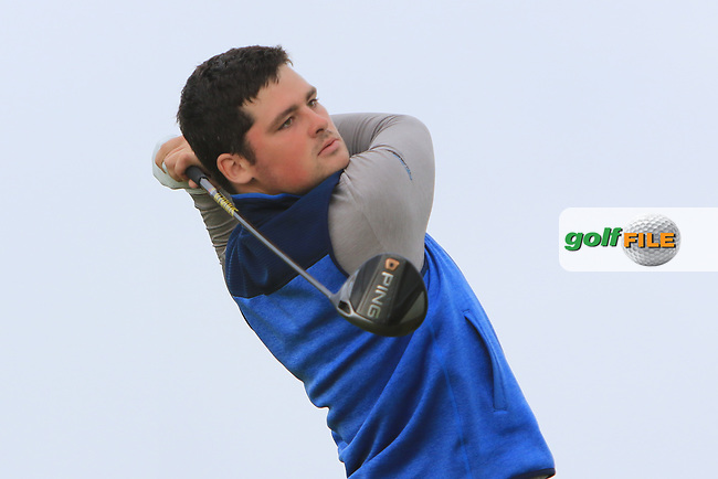 TJ Ford (Co. Sligo) on the 17th tee during Round 2 of the North of Ireland Amateur Open Championship 2019 at Portstewart Golf Club, Portstewart, Co. Antrim on Tuesday 9th July 2019.<br /> Picture:  Thos Caffrey / Golffile<br /> <br /> All photos usage must carry mandatory copyright credit (© Golffile | Thos Caffrey)
