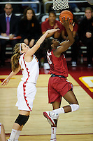 LOS ANGELES, CA - December 29, 2011:  Stanford's Chiney Ogwumike during play against the USC Trojans at the Galen Center.   Stanford defeated USC, 61 - 53.