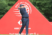 Shane Lowry (IRL) on the 2nd tee during the final round of the WGC HSBC Champions, Sheshan Golf Club, Shanghai, China. 03/11/2019.<br /> Picture Fran Caffrey / Golffile.ie<br /> <br /> All photo usage must carry mandatory copyright credit (© Golffile | Fran Caffrey)