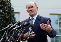 United States Senator Chris Coons (Democrat of Delaware) addresses reporters outside the West Wing following a signing ceremony for Anti-Human Trafficking Legislation in the Oval Office of the White House, in Washington, D.C., January 9, 2019. Photo Credit: Martin H. Simon/CNP/AdMedia