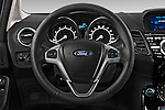 Car pictures of steering wheel view of a 2014 Ford FIESTA Sport 3 Door Hatchback 2WD Steering Wheel