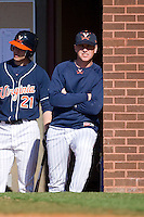 Virginia Cavaliers head coach Brian O'Connor #26 at Clark-LeClair Stadium on February 20, 2010 in Greenville, North Carolina.   Photo by Brian Westerholt / Four Seam Images