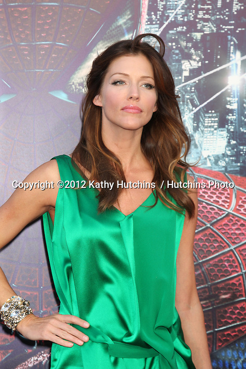 """LOS ANGELES - JUN 28:  Tricia Helfer arrives at the """"The Amazing Spider-Man"""" Premiere at Village Theater on June 28, 2012 in Westwood, CA"""