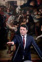 Roma, 12 Ottobre 2016<br /> Matteo Renzi<br /> Il presidente del Consiglio e il presidente del Coni  hanno presentato a Palazzo Chigi il Piano Sport e Periferie.