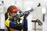 COLUMBUS, OH - MARCH 11:  Morgan Phillips of West Virginia University competes during the Division I Rifle Championships held at The French Field House on the Ohio State University campus on March 11, 2017 in Columbus, Ohio. Phillips finished second in the individual championship with a score of 207.2. (Photo by Jay LaPrete/NCAA Photos via Getty Images)