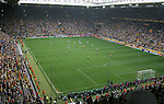 27 June 2006: A wide shot of the stadium at the start of the game. Brazil (1st place in Group F) played Ghana (2nd place in Group E) at Signal Iduna Park, better known as Westfalenstadion, in Dortmund, Germany in match 55, a Round of 16 game, in the 2006 FIFA World Cup.