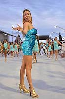 SÃO PAULO, SP, 03 DE FEVEREIRO DE 2013 - ENSAIO TÉCNICO MANCHA VERDE - Ensaio técnico da Escola de Samba Mancha Verde na preparação para o Carnaval 2013. O ensaio foi realizado na noite deste domingo (03) no Sambódromo do Anhembi, zona norte da cidade. FOTO LEVI BIANCO - BRAZIL PHOTO PRESS