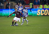 21 November 2010: Colorado Rapids midfielder Wells Thompson #15 and FC Dallas forward/midfielder Atiba Harris #16 in action during the 2010 MLS CUP between the Colorado Rapids and FC Dallas at BMO Field in Toronto, Ontario Canada..The Colorado Rapids won 2-1 in extra time....
