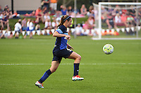 Kansas City, MO - Saturday May 07, 2016: FC Kansas City midfielder Heather O'Reilly (9) against the Houston Dash during a regular season National Women's Soccer League (NWSL) match at Swope Soccer Village. Houston won 2-1.