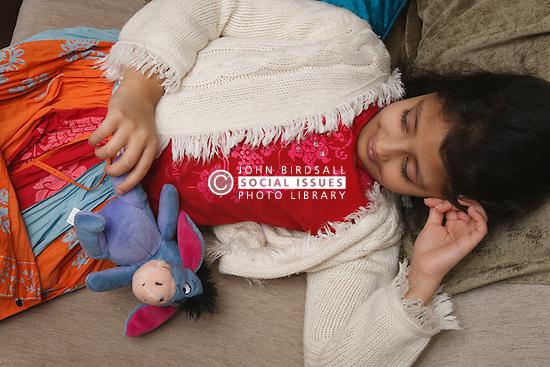 Asian girl resting