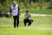 Joakim Backstrom takes his putt on the 8th green during the third round of the Irish Open on 19th of May 2007 at the Adare Manor Hotel & Golf Resort, Co. Limerick, Ireland. (Photo by Eoin Clarke/NEWSFILE)..