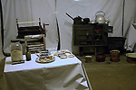 Food and kitchen items from the occupation period, German Underground Military hospital, Guernsey, Channel Islands, UK