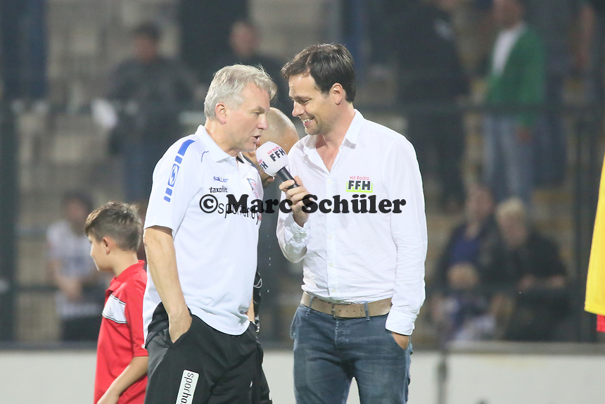 Trainer Benno Möhlmann (FSV) im Intervew- FSV Frankfurt vs. Eintracht Frankfurt, Frankfurter Volksbank Stadion