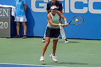 Washington, DC - August 4, 2019: Jessica Pegula (USA) returns a volley during the Citi Open WTA Singles final at William H.G. FitzGerald Tennis Center in Washington, DC  August 4, 2019.  (Photo by Elliott Brown/Media Images International)