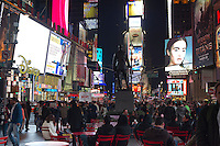 Times Square in New York seen on St. Patrick's Day evening, Saturday, March 17, 2012.   (© Frances M. Roberts)