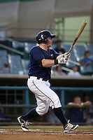 Marc Wik (21) of the Lancaster JetHawks bats against the Rancho Cucamonga Quakes at The Hanger on September 1, 2016 in Lancaster, California. Rancho Cucamonga defeated Lancaster, 6-3. (Larry Goren/Four Seam Images)
