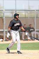 James Simmons, San Francisco Giants 2010 minor league spring training..Photo by:  Bill Mitchell/Four Seam Images.
