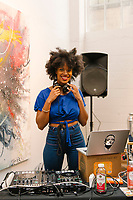 DJ Smiles Davis attends An Evening #InFullBloom at Ren Gallery in Los Angeles, California on May 11, 2018 (Photo by Jason Sean Weiss / Guest of a Guest)