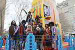 Cast of Hair - going on Broadway at the Macy's Thanksgiving Day Parade on November 27, 2008 in New York City, NY. (Photo by Sue Coflin/Max Photos)