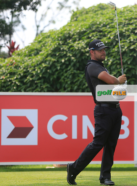 Ryan Moore (USA) on the 16th tee during Round 4 of the CIMB Classic in the Kuala Lumpur Golf &amp; Country Club on Sunday 2nd November 2014.<br /> Picture:  Thos Caffrey / www.golffile.ie