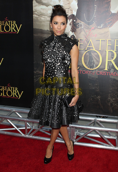 Eva Longoria.'For Greater Glory' LA premiere held at the AMPAS Samuel Goldwyn Theater, Beverly Hills, California, USA..31st May 2012 .full length dress black leather perforated pattern hair up bun clutch bag.CAP/ADM/RE.©Russ Elliot/AdMedia/Capital Pictures.