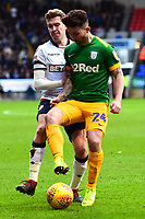 Preston North End's Sean Maguire competes with Bolton Wanderers' Josh Vela<br /> <br /> Photographer Richard Martin-Roberts/CameraSport<br /> <br /> The EFL Sky Bet Championship - Bolton Wanderers v Preston North End - Saturday 9th February 2019 - University of Bolton Stadium - Bolton<br /> <br /> World Copyright &copy; 2019 CameraSport. All rights reserved. 43 Linden Ave. Countesthorpe. Leicester. England. LE8 5PG - Tel: +44 (0) 116 277 4147 - admin@camerasport.com - www.camerasport.com