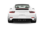Straight rear view of a 2018 Porsche 911 Carrera S 2 Door Coupe stock images