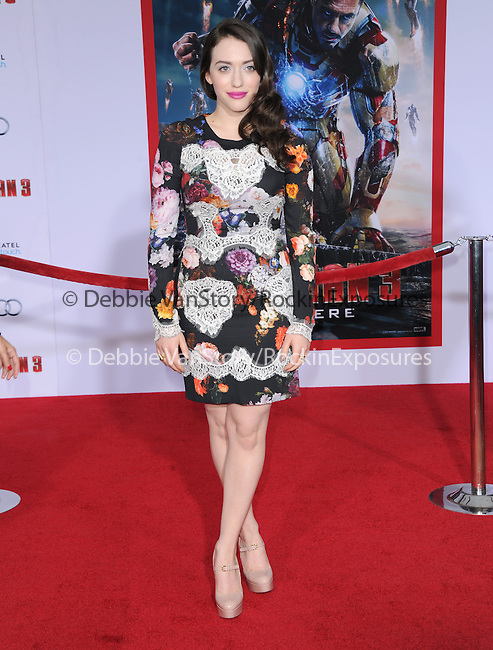 Kat Dennings  at The World Premiere of Marvel's Iron Man 3 held at The El CapitanTheatre in Hollywood, California on April 24,2013                                                                   Copyright 2013 Hollywood Press Agency