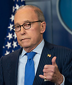Larry Kudlow, Director of the National Economic Council gives a news briefing at the White House in Washington, DC, June 6, 2018. Credit: Chris Kleponis / CNP