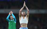 Leeds United's Kalvin Phillips applauds the fans at the end of the game<br /> <br /> Photographer Rob Newell/CameraSport<br /> <br /> Emirates FA Cup Third Round - Arsenal v Leeds United - Monday 6th January 2020 - The Emirates Stadium - London<br />  <br /> World Copyright © 2020 CameraSport. All rights reserved. 43 Linden Ave. Countesthorpe. Leicester. England. LE8 5PG - Tel: +44 (0) 116 277 4147 - admin@camerasport.com - www.camerasport.com